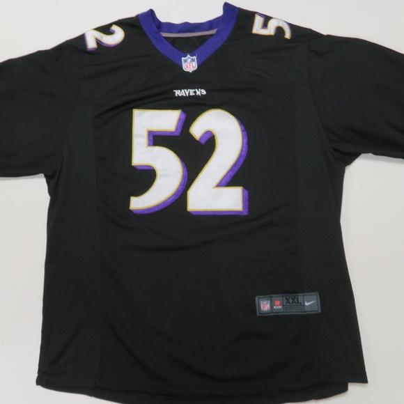 Nike Baltimore Ravens Ray Lewis Black Jersey XXL